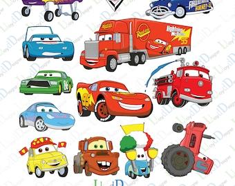 Disney pixar cars art disney cars svg cars clipart pixar cars ornament pixar cars invitation pixar cars poster svg pdf png dxf cutting files