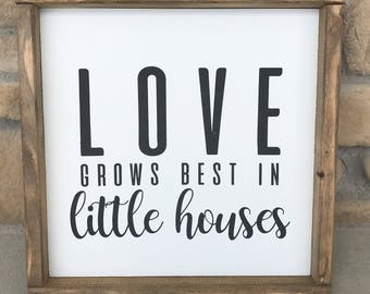 Small Houses Rustic Chic Home Decor Wall Sign