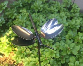 Butterfly Spoon Garden Pick