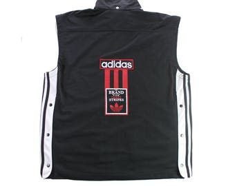 Vintage 90s Adidas Poppers Gilet