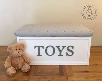 Personalised Toy Box, Storage Chest, Toy Storage, Custom, Gift, Playroom, Nursery, Girls & Boys
