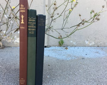 Vintage Gardening and Nature Book Set