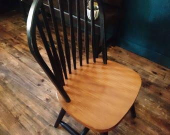 Chair Scandinavian, black, retro, bar, bi color
