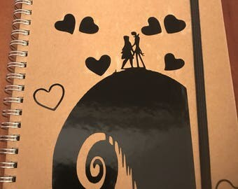 Nightmare Before Christmas Notebook with or without hearts