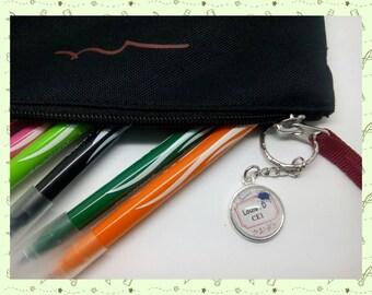 Customized keychains, for bag, school bag, gym bag, keys...