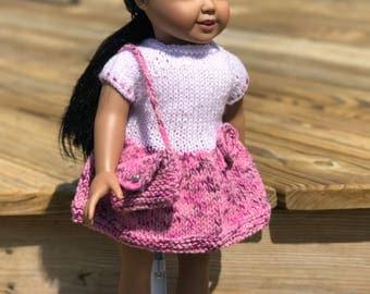 American Girl Knit Dress & Purse