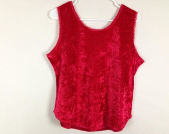 Red velvet soft tank top