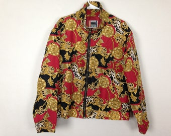 red black and gold royalty windbreaker jacket size M