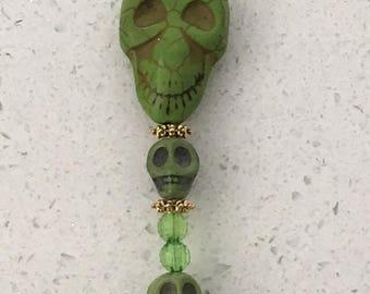 Skull Suncatcher Green