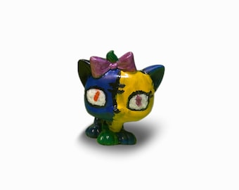 Lps OOAK custom Shady Patchwork kitten