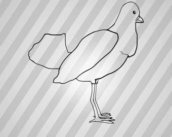 Pigeon Bird Silhouette - Svg Dxf Eps Silhouette Rld RDWorks Pdf Png AI Files Digital Cut Vector File Svg File Cricut Laser Cut