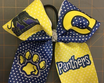 School spirit cheer bow! You pick colors and mascot!