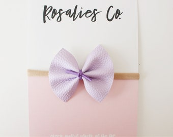 PURPLE WHISPER - Baby Headbands, Baby girl headbands, Baby bows, Newborn headbands, Nylon Headbands, Baby girl valentines day outfit