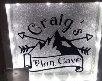 Personalised Man Cave Frame/Sign with Lights