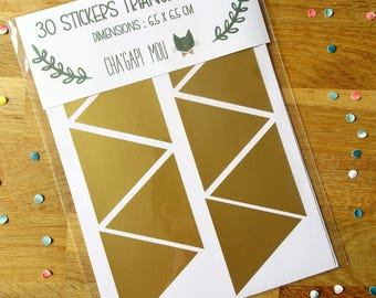 Gold triangles vinyl stickers