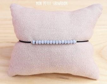 "Blue lavender Beads Bracelet ""fanny"""
