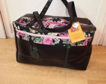 The cat-fun floral cat black bag