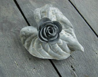 Composition of polymer clay flowers