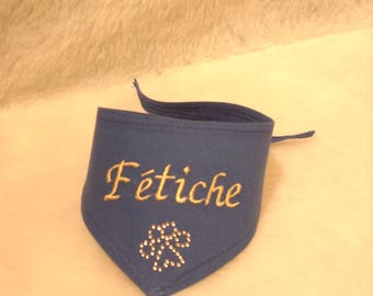 Blue to be personalized for your XS, S, M DOG bandana
