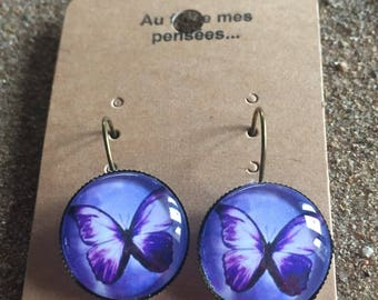 Stud earrings and Butterfly