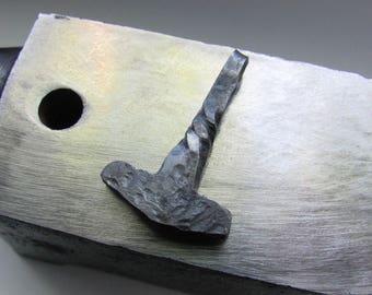 Forged amulet - Thor's hammer Mjollnir.