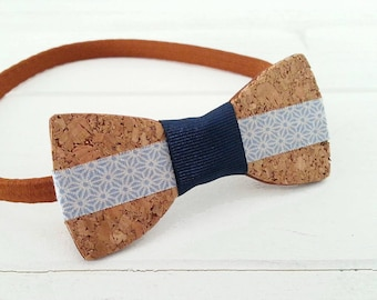 Bow tie wood and Cork for men