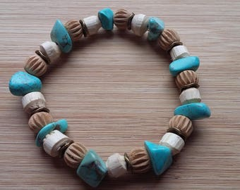 Bronze ethnic bamboo bracelet