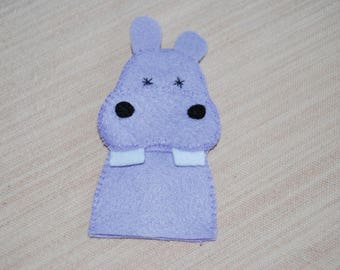 various animal felt finger puppet