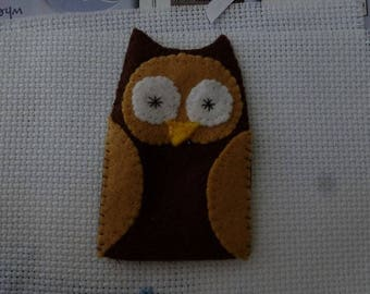 Mr Brown OWL felt finger puppet