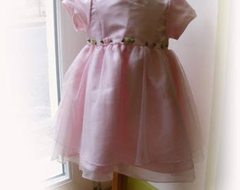Pink dress 24 month satin and tulle for ceremony