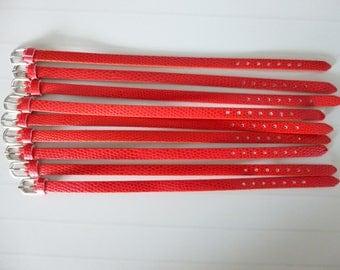 1 red leather bracelet