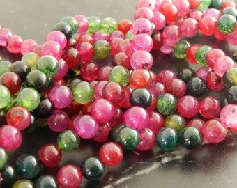 Tourmaline 8 mm 10 beads