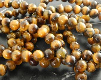 Eye of Tiger 8 mm 10 beads