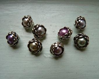 rose buds: assortment of buttons