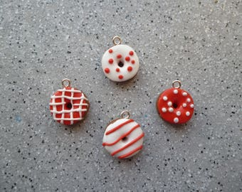 Set of 4 donuts in fimo handmade fimo cakes, Jewelry Accessories, miniature dolls