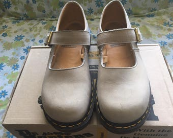 Dr Martens - Mary Jane Sandals - Color/Oat - England - Vintage - New Condition