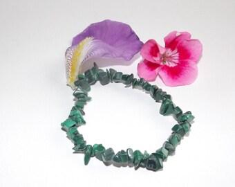 beautiful green malachite chips bracelet