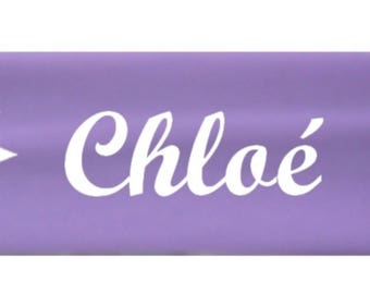 Purple girl stars personalized with name banner