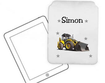 Personalized with name backhoe pc Tablet case