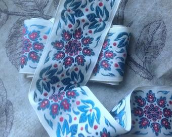 Large old Ribbon, beautiful floral pattern