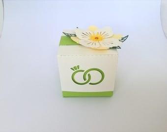 Box dragees wedding flower