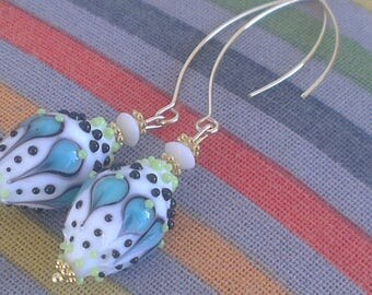 Artisan glass beads - shells and small fish collection