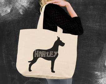 Great Dane | Great Dane Tote | Great Dane Gifts | Canvas Tote Bag | Beach Tote | Canvas Tote | Shopping Tote | Oregon Tee Company