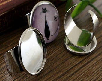 20mm: 1 ring adjustable silver ring 20mm
