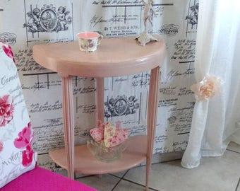 Romantic Shabby antique 20s half-moon table pedestal