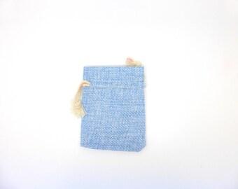 Bag, Burlap, gift box, blue