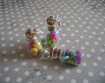 With mini-buttons glass jars