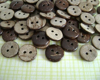 Natural coconut buttons