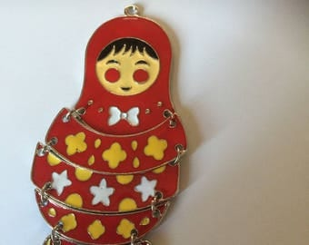 Russian doll: Red enamel