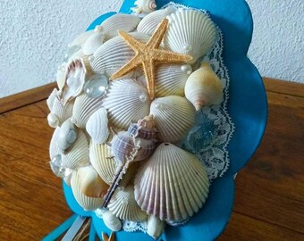 seashell wedding bouquet handmade sea theme wedding